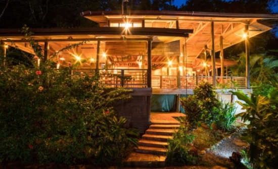 Samasati restaurant in the evening