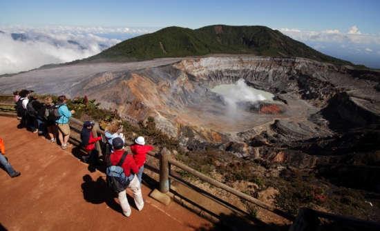 Poas Volcano viewpoint