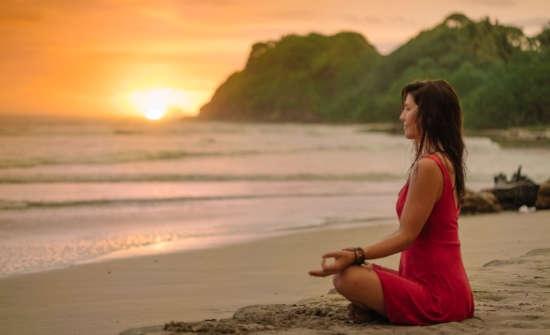Harmony seaside meditation