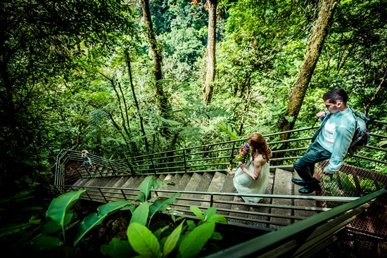 The stairs down to La Fortuna