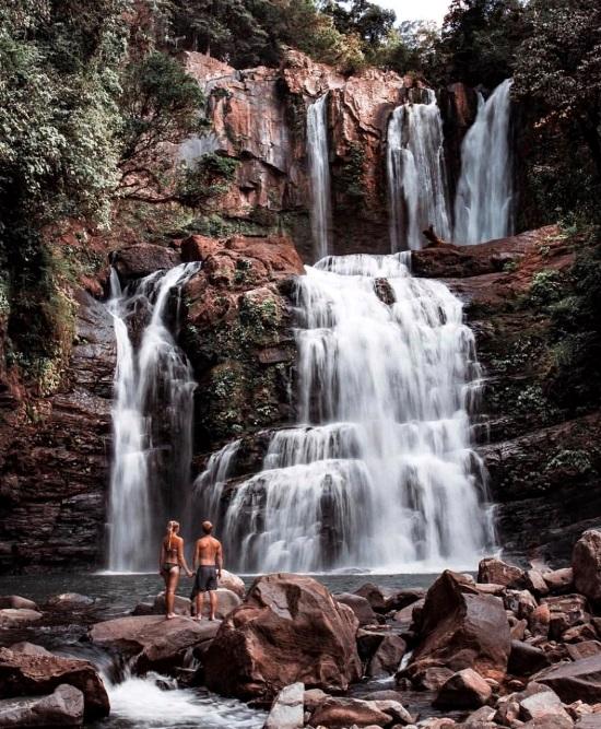 Nauyaca Waterfall via@tropical.addicts