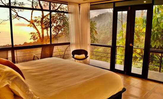 3 BR Whale's Tail Villa Bedroom with Ocean and Mountain View